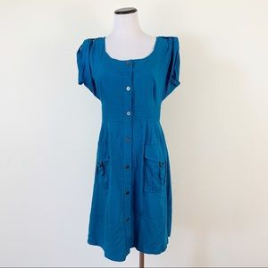 Anthropologie Maeve Retro Shirt Dress Button Front